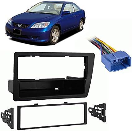 Boss Car Radio Stereo Single DIN Dash Kit Harness for 2001-2005 Honda Civic
