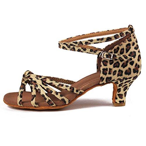de YFF Bal latine danse 5cm Chaussures 7cm leopard heels 11Corlors femmes Tango 5cm 5BrqBTR