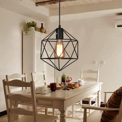 LightInTheBox E27 5-15㎡ Geometrical Line Diamond Wrought Iron Chandelier Pendant Lights LED Modern/Contemporary Lighting Fixture