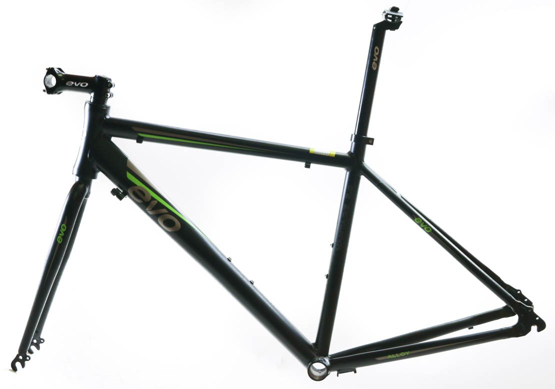EVO Vantage 5.0 50cm Small Aluminum Road Bike Frameset Fork + Extras Black NEW by EVO