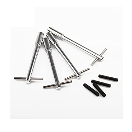 """5/"""" 9820 Chrome Steel Valve Cover T-Bar Wing Bolts Length"""
