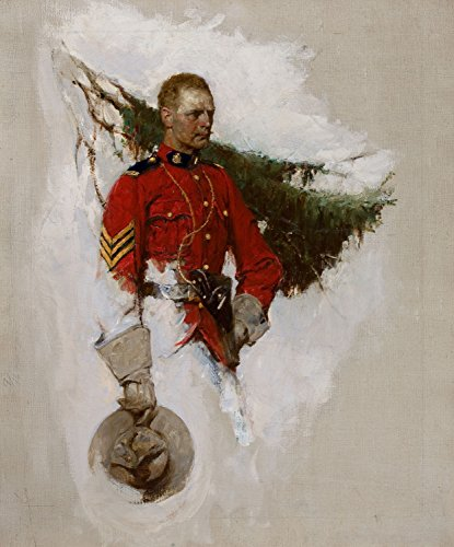 Old West Art Print Canada's Finest Canadian Mounted Police Mounty 12