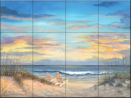 Ceramic Tile Mural - Front Row Seats- by Mary Lou Troutman - Kitchen backsplash/Bathroom Shower ()