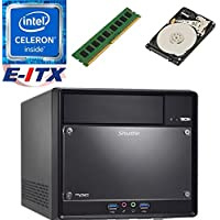 Shuttle SH110R4 Intel Celeron G3930 (Kaby Lake) XPC Cube System , 4GB DDR4, 2TB HDD, DVD RW, WiFi, Bluetooth, Pre-Assembled and Tested by E-ITX