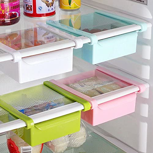 Bluelover Cocina Plástico Nevera Nevera Rack de almacenamiento ...
