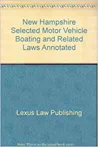 new hampshire selected motor vehicle boating and related