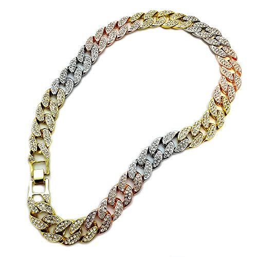 BLINGFACTORY Hip HOP Luxury Full ICED Multi Color LAB Diamonds 15mm 18