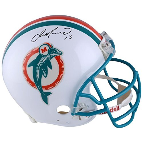 AJ Sports World Dan Marino Miami Dolphins Signed Full Size Retro Replica NFL Football Helmet