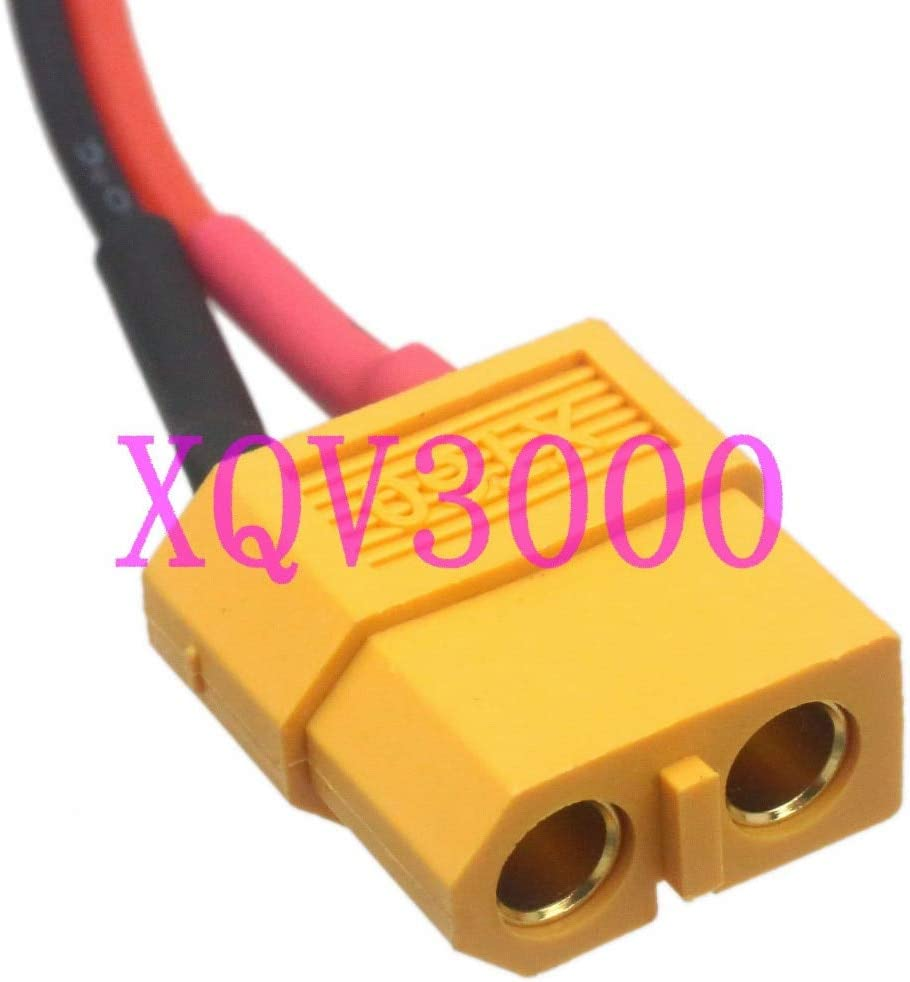 Gimax DC Power Cord 5.5 x 2.5mm male barrel to RC XT60 female adapter 14AWG 15CM wire