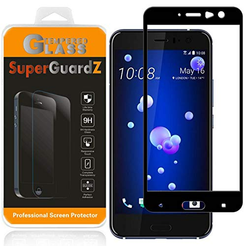 [2-Pack] HTC U11 Screen Protector Tempered Glass [Full Coverage], SuperGuardZ, Edge-to-Edge, Anti-Scratch, Anti-Bubble [Lifetime Replacement]
