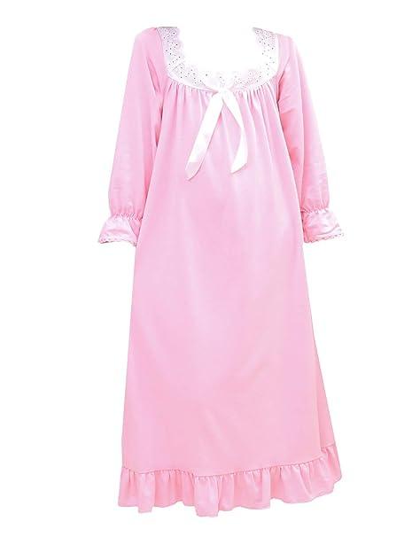 9e721abb0bbc PUFSUNJJ Girls Pink Cotton Nightgown Soft Sleepwear Toddler 3-12 Years