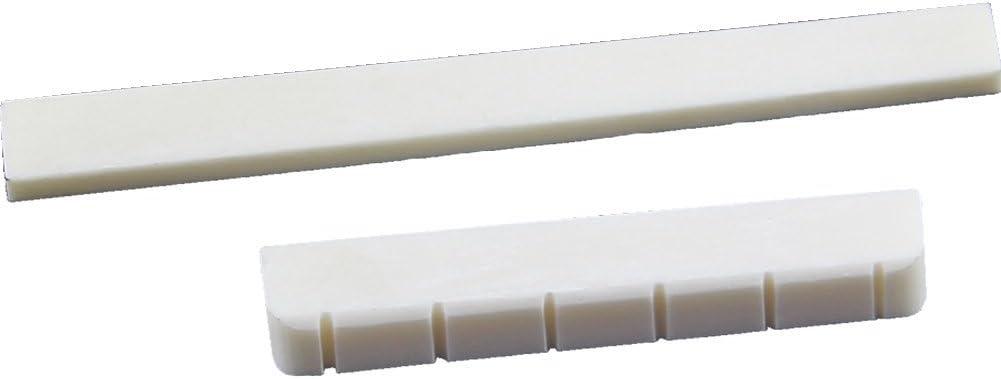 Gaoominy Piezas de Guitarra Blanca Juego de Marfil Tuerca y sillin de Puente de Hueso de Guitarra Clasica de 6 Cuerdas