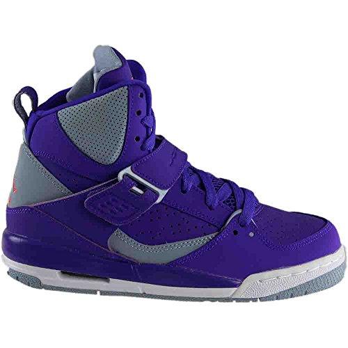 Nike Damen Jordan Flight 45 High Ip Gg Basketballschuhe Morado (Fierce Purple / Ember Glow-Blue Grey-White)