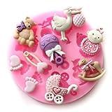 Bath Bomb Hobby Lobby Baby Assortment 9 Cavities Silicone Mold for Fondant Cake Decorating