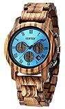 LEFTLY Mens Wooden Watch Quartz Movement lightweight Chronograph - Best Reviews Guide