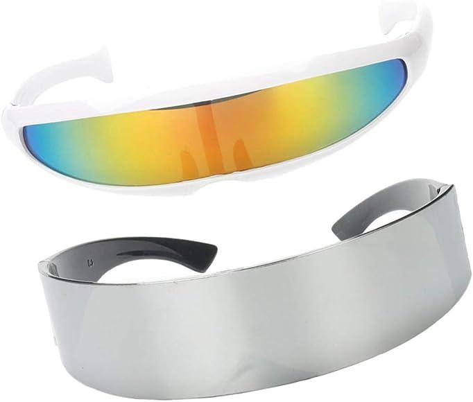 B Baosity 2x Gafas de Sol Rainbow Color Brillante Futurista ...