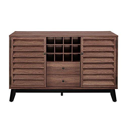 Ameriwood Home 7904096COM Vaughn Wine Cabinet, Walnut