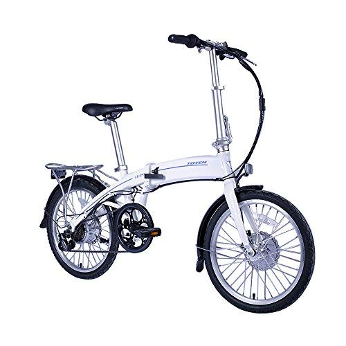 CS-240 Electric Bicycle for Sport, Commuter, Campus. 250W Folding Bike w/Removable 36V Battery, 5 Levels Pedal Assist and Pedal-Free Modes,USB...