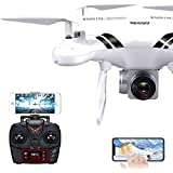 NiGHT LiONS TECH N018S RC Drone with Wide Angle 1080P 500W HD Camera wifi FPV Real-time Transmission,360° Flips,Altitude Hold RC Quadcopter toy 18-20 minutes long flight time