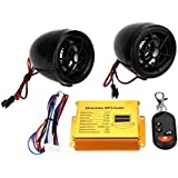 KKmoon Motorcycle MP3 Player Speakers Audio Sound System FM Radio Security Alarm Wireless Remote with USB SD Slot