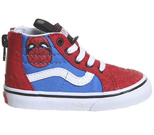 Vans Kids X Marvel SK8-Hi Zip Skate Shoes (6.5 M US Toddler, (Marvel) Spider-Man/True -