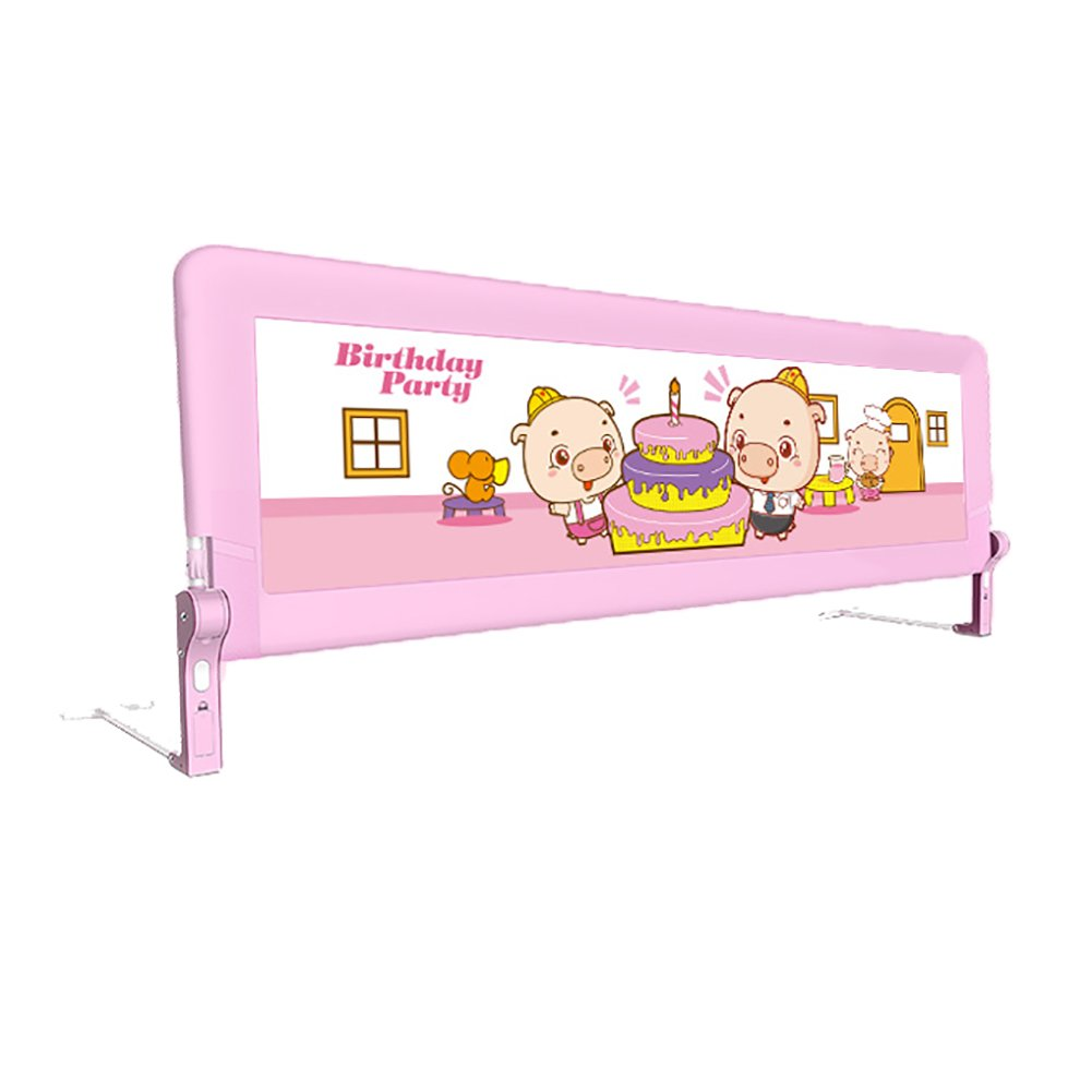 Baby Safe Bed Rail Crib Rail With Light Pink KB022 2m