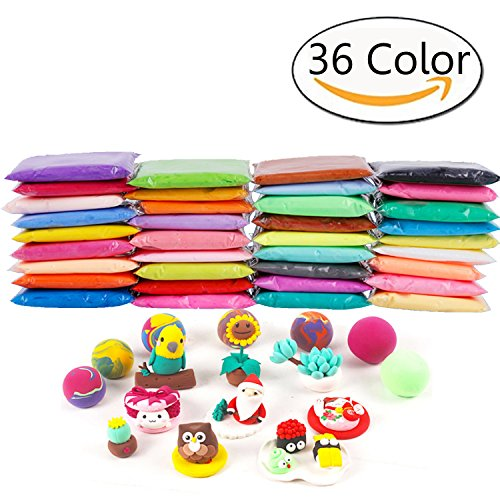 Anyumocz 36 Colors Air Dry Clay Moulding Craft Clay - Clay Set for Kids with (Dry Clay)