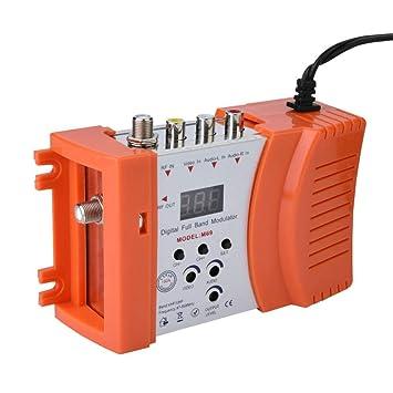 Eboxer Amplificador de Señal del Modulador de RF Digital para TV Audio Video Convertidor de 47