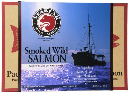(SeaBear Smoked Salmon, 6 Ounce Unit)