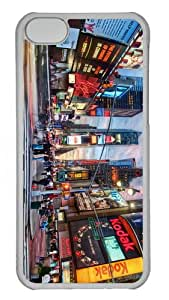 covers water proof times square PC Transparent case for iphone 5C
