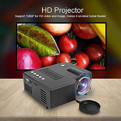 Tangxi Mini proyector LED, Mini proyector, Full HD 1080P, Pantalla ...