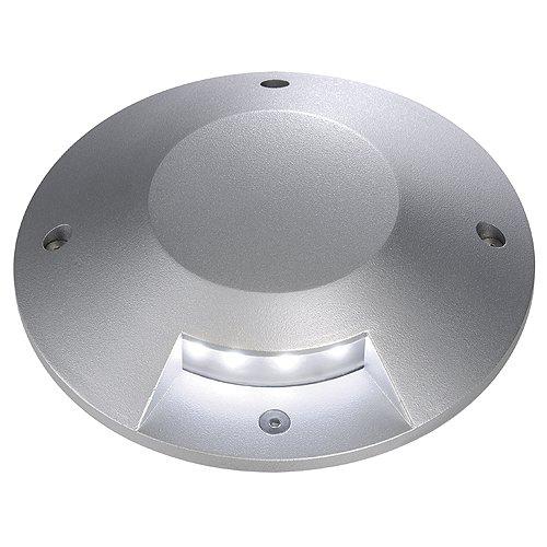 Bodeneinbauleuchte Big LED Plot Round in Silbergrau