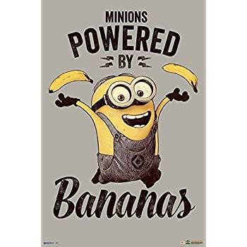 Amazon.com: Despicable me Minions Banana Poster - 91.5 x 61cms (36 ...