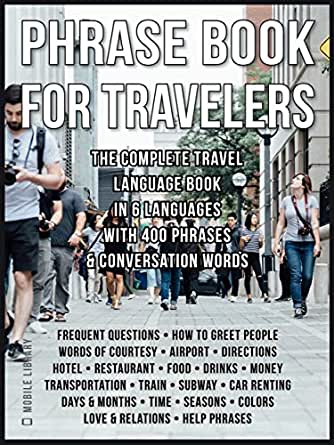 Amazon com: Phrase Book for Travelers: The Complete Travel Language