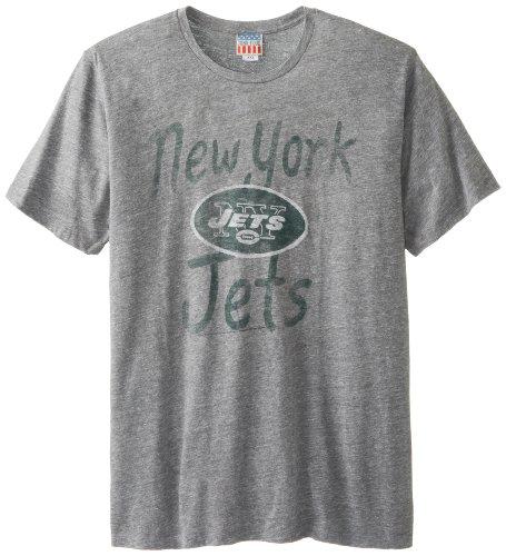 New York Jets Mens Triblends T-Shirt, Steel, Medium