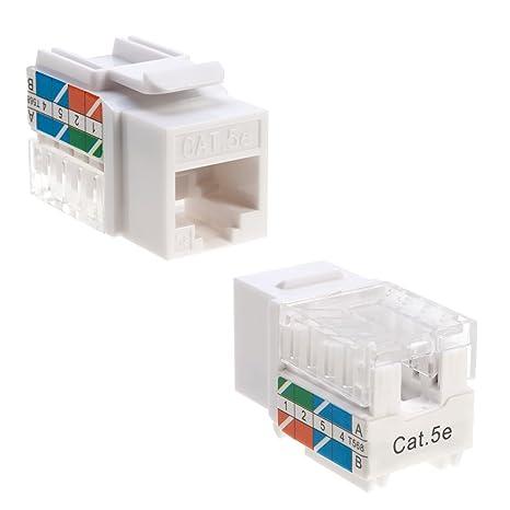 Remarkable Amazon Com Cat5E Ethernet Rj 45 Keystone Jack Cat5 Punch Down Wiring Cloud Strefoxcilixyz