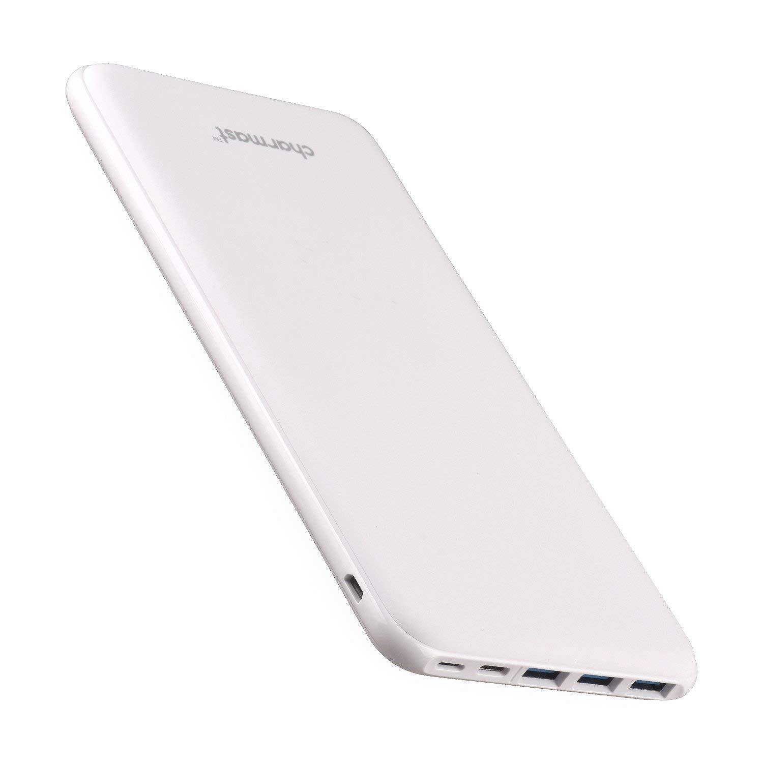 Power Bank Portable Charger 26800mAh High Capacity 5V 3A Fast Charging USB C External Battery Pack with 4 Outputs, Ultra Slim Compact Backup Battery Compatible with MacBook iPhone 11/Pro Samsung-White by Charmast
