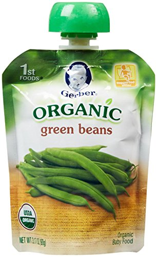 Gerber Organic 1st Foods Purees - Green Beans - 3.17 oz - 6 pk (Gerber Baby Food Green Beans compare prices)