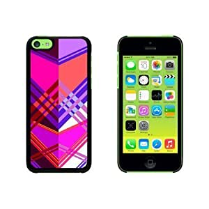 Geometric Magenta Purple Snap On Hard Protective For SamSung Galaxy S4 Phone Case Cover - Black