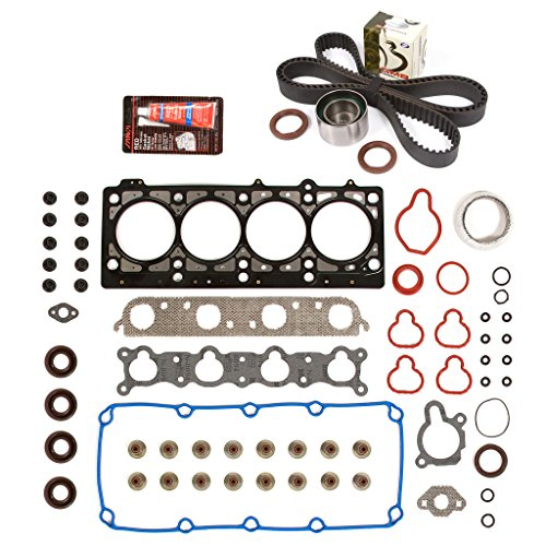 Evergreen HSTBK5021 Head Gasket Set Timing Belt Kit 96-99 Dodge Plymouth 2.0 SOHC 16V VIN (A/c Idler Pulley Bolt)
