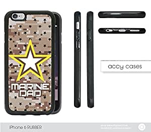 Marine Camo DAD iPhone 6 Hard Silicone PC Cell Phone Case