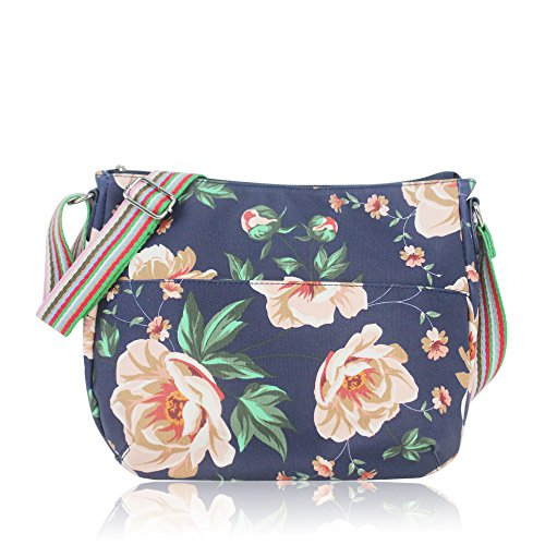 Flower Handbag Bag YDezire® Bags Cross Oilcloth Ladies Material Tote Satchel Rose Messenger Navy Body Shoulder q0qEOC4wx