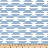 Art Gallery Fabrics Arizona After Jersey Knit Toma-Hawk Stripe Fabric by the Yard, Cloud