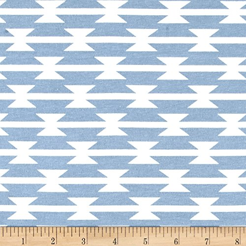 Art Gallery Fabrics Arizona After Jersey Knit Toma-Hawk Stripe Fabric by the Yard, Cloud by Art Gallery Fabrics