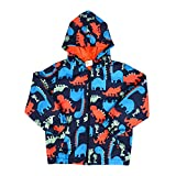 Little Boys Dinosaur Printed Jacket, Zip Hoodie Mesh Lined...