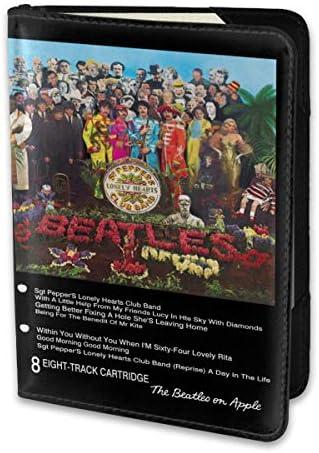 ビートルズ SGT PEPPER 8 TRACK パスポートケース メンズ 男女兼用 パスポートカバー パスポート用カバー パスポートバッグ 小型 携帯便利 シンプル ポーチ 5.5インチ高級PUレザー 家族 国内海外旅行用品