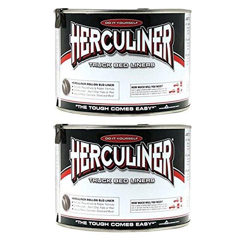2-Pack-Herculiner-HCL0B7-Brush-on-Bed-Liner-Quart