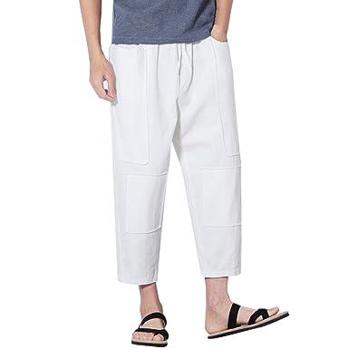 Zhhlinyuan Pantalones Harem Hombre Baggy Yoga harén ...