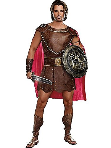 Men's Hercules Costume, Brown,