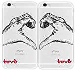SHARK Love Hand Signed matching couple cases for (Two case for iphone 6)